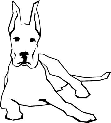 Раскраска «Собака с большими ушами», распечатать бесплатно