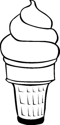 Раскраска «Мороженое с шапкой», распечатать бесплатно