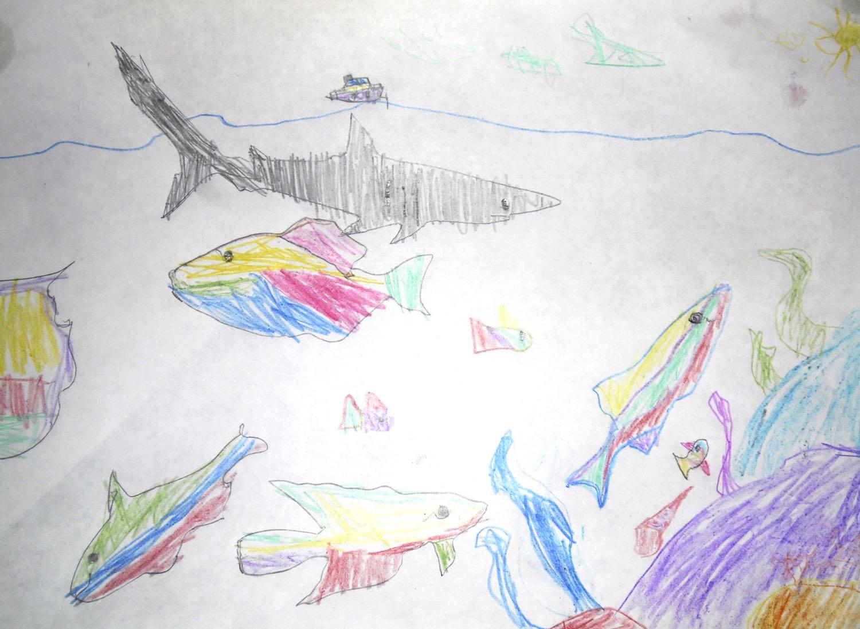 Детский рисунок цветными карандашами