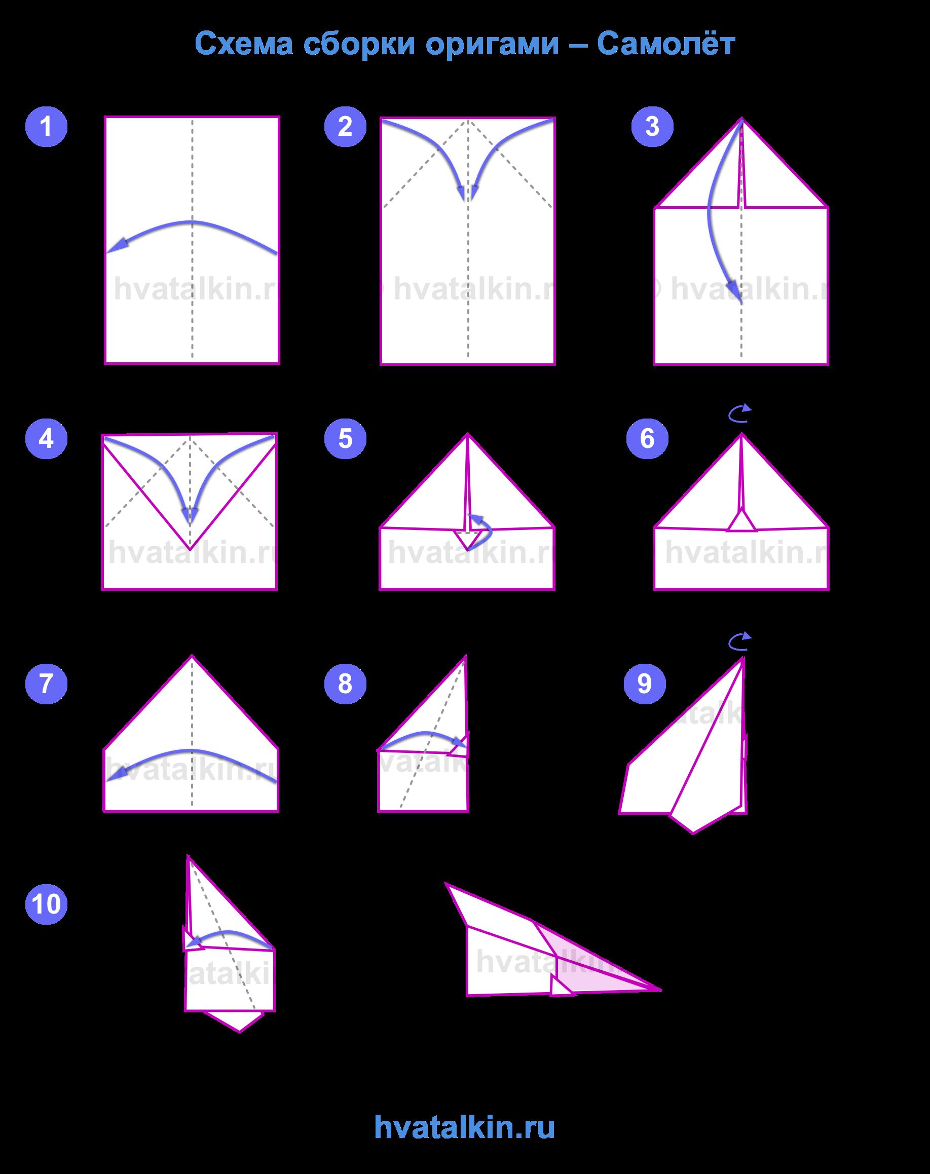 Как сделать самолет из бумаги пошаговая инструкция фото