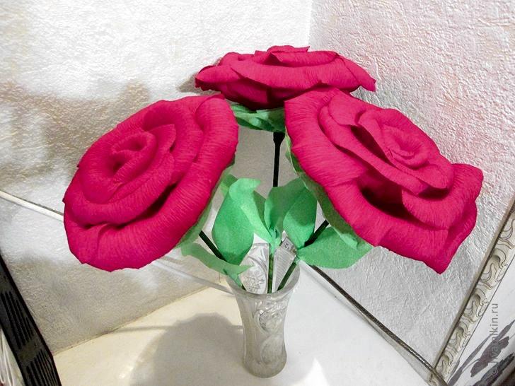 Поделки из роз на бумаге 23