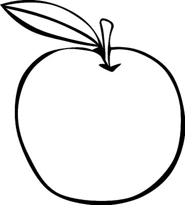 Раскраска «Яблоко», распечатать бесплатно