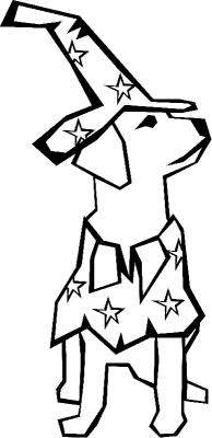 Раскраска «Собака в карнавальном костюме», распечатать ...