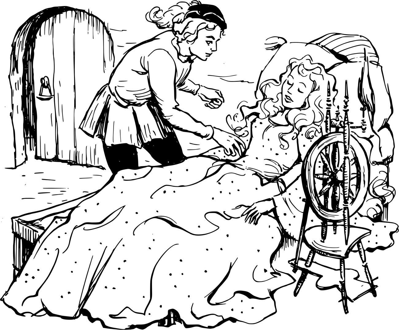 Рисунки к сказке спящая красавица жуковского